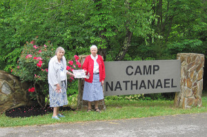 Isabelle Brace and Elizabeth Smith at Camp Nathanael, in Emmalena, Kentucky