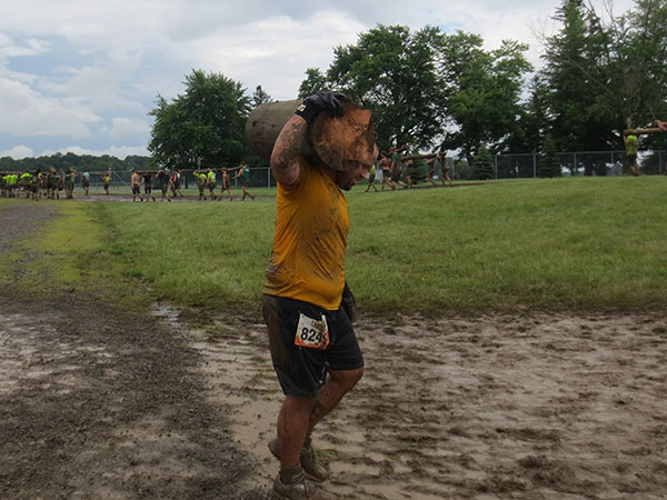 Josh Cooper competed in the Tough Mudder event.