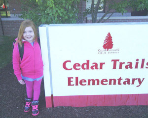 On the first day of school, Alanna Miller was excited to be in kindergarten at Cedar Trails Elementary.
