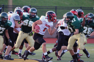 The JV Red Hawks suffered their first loss at the hands of the Zeeland Dux last week. Photo by Kelly Alvesteffer.