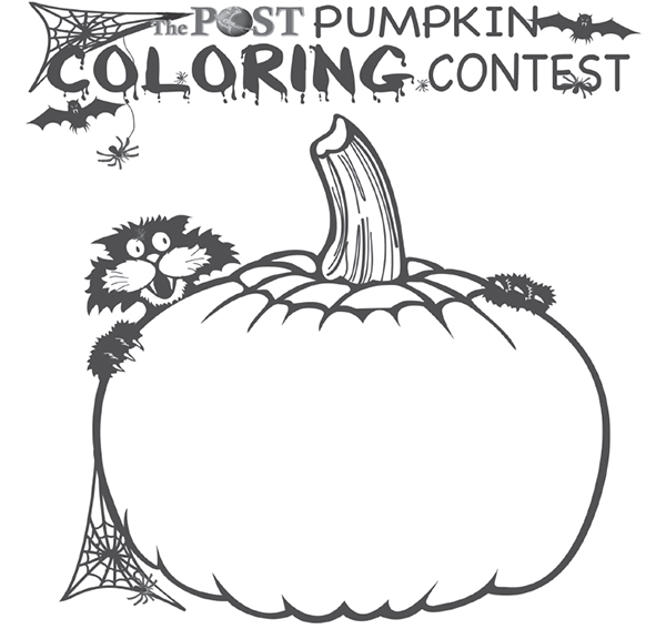 Halloween Coloring Contest Cedar Springs Post Newspaper