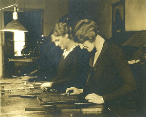 "Two ""big-city gals"" Grace Hamilton (left) and Nina Babcock (right) bought the town's newspaper, The Cedar Springs Clipper, in 1932, and it was 1936 when they put Cedar Springs on the map. Photo courtesy CS Historical Society."