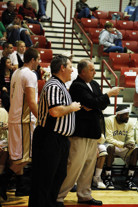 Gary Bailey coaching during a game.