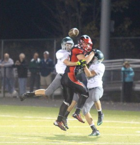 The Red Hawks suffered a tough loss to West Catholic last Friday night. Photo by Kelly Alvesteffer.