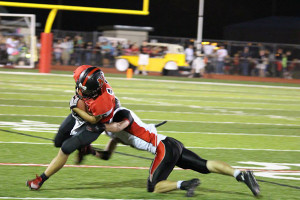 The Cedar Springs Red Hawks shut out the Wildcats 28-0 last Friday at Northview. Photo by Kelly Alvesteffer.