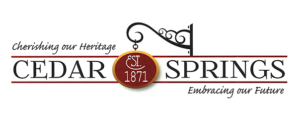 This is the new logo for the City of Cedar Springs.