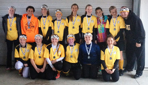 Tri County U14 Girls take second place at the Allegan AYSO Halloween Classic Invitational