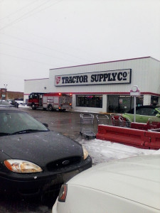 The Cedar Springs Fire Department at Tractor Supply Monday, on a possible chemical spill. Photo courtesy of Daniel Warner.
