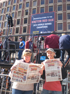 Don and Ruth Ann Armstrong reading The POST in Boston.
