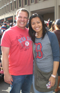 Dr. Dustin D. Armstrong and his fiancé, Vicki Wong.