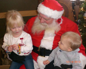 The Armstrongs enjoyed their visit with Santa at the Sand Lake/Nelson Township Library.