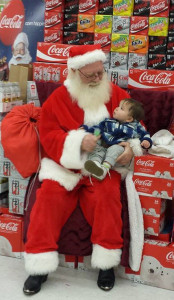 Baby Worden with Santa at Family Fare