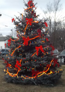 The town's Christmas Tree after being lit Saturday night. Post photo by J. Reed.