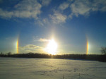 This sun dog photo was taken January 7 by Audrey Debri, of Cedar Springs.
