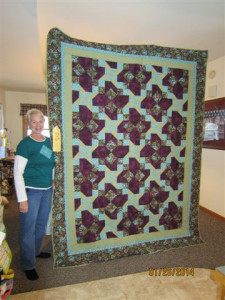 Kathy Marsman took third place with her quilt.