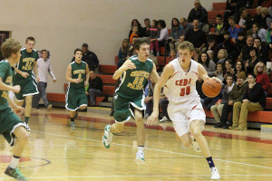Brad Brechting led the team in total points scored with 22 against Comstock Park. Photo by Kelly Alvesteffer.
