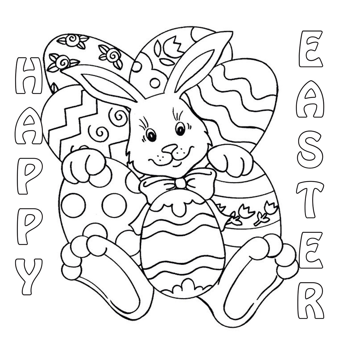 Easter coloring contest 2014 cedar springs post newspaper for Free easter coloring page