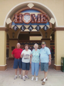 Woody and Jan Avis and Jerry and Betty VanderWal (holding the Post) in Lakeland, Florida.