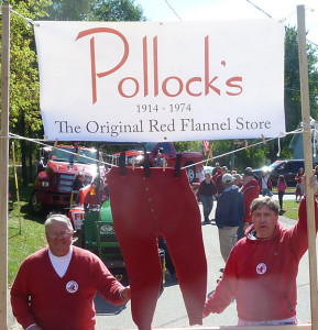 Bill (left) and Bob (right) Pollock are honorary grand marshals of this year's Red Flannel Festival.