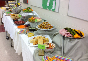 Guests enjoyed an array of delicious appetizers.