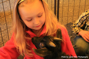 Children enjoyed the petting zoo at the Founder's Day Celebration