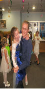 Second grade student, Emma Brinks, and her father, Aaron Brinks, dancing the night away together.