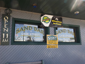 The Sand Bar in Sand Lake has closed its doors after losing its liquor licenses. Post photo by J. Reed.