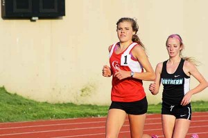 Junior Kenzie Weiler won the 3200 meter run in a school record time of 10:46.86 and qualified for the MHSAA State Finals.