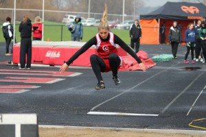 Marissa Oakes in the long jump