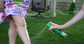 Use insect repellant to keep away mosquitoes and ticks this summer.