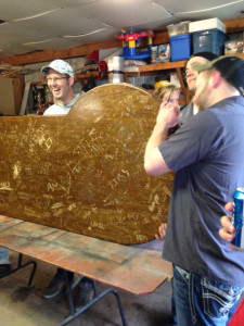 """Friends of Andy Marini remove """"Andy's table"""" from The Sand Bar."""