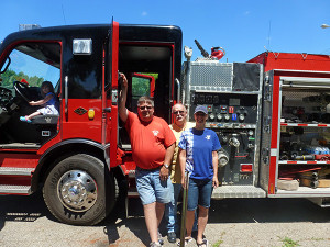 The Cedar Springs Fire Department made a guest appearance at the summer reading kick off party Monday.
