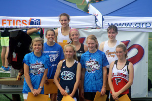 Kenzie Weiler (far left) on the awards stand.