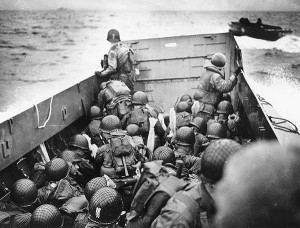 D-Day, above, launched a tidal wave of men and material into France and Germany. Many future federal judges were part of the conquest of Nazi Germany. Photo courtesy: National Archives