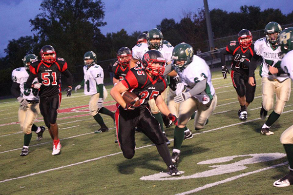 The Cedar Springs Red Hawks take on the Comstock Panthers in Comstock Park tonight (Thursday, August 28) 7 p.m. The photo above is from the last time they played them in 2011.