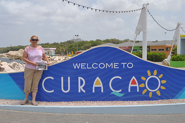 Tracy Merlington, of Pierson, with the Post, at the Caribbean island of Curacao.