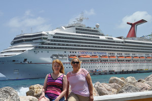 Angela LaBay and Tracy Merlington on their Best Friends Forever Cruise.