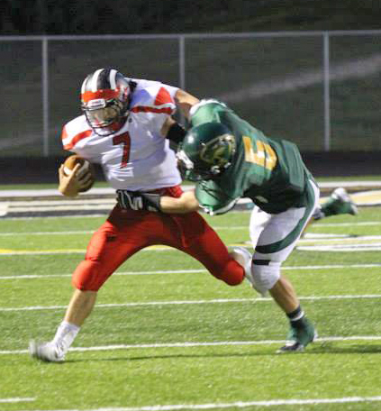 Sophomore quarterback Collin Alvesteffer had two interceptions in last week's win against Comstock Park.