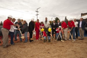 Groundbreaking at Cedar Springs Brewery Tuesday, Oct. 14, 2014.
