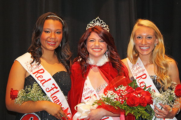 The 2014 Red Flannel queen and court, from left to right: Kaleigh Keech (court), Melissa Maguire (Queen) and Ellie Ovokaitys (Court).