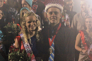 Homecoming King and Queen Justin Davis and Bayley Wolfe