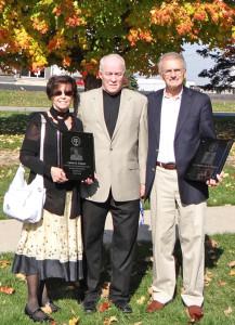 L-R Mrs. Lexie Coxon, Dan George, Dr. DeWayne Coxon