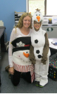 Mrs. Krombeen and Olaf (Zachary Smith) were right with the weather forecast