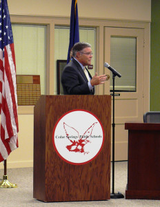 Dr. Steven Ender, president of GRCC