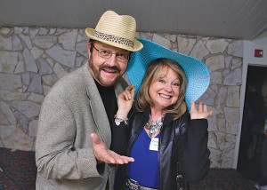 Pastors Keith and Judy Hemmila from Crossfire Ministries in Cedar Springs hamming it up in the photo booth.