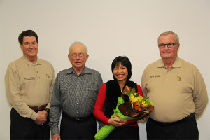 Pictured from L to R: Victim advocate Jay Groendyke, residents Ron and Mavee Blain, and victim advocate Charles Roetman.