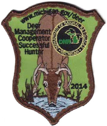 The Department of Natural Resources encourages hunters to stop by a DNR deer check station after their successful harvest, for DNR staff to collect important data from their deer and to receive their 2014 cooperator patch. Photo from DNR.