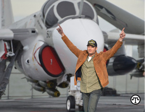 "Blake Shelton lands on the USS Lexington in Corpus Christi, TX to deliver a surprise performance to America's veterans to launch Pepsi's ""Hype Your Hometown"" campaign—a call to action for the chance to win a once-in-a-lifetime halftime experience."