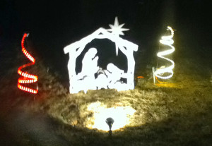 Nolan Patin created a small Christmas light display set to music in front of his home at 2207 15 Mile Road. Those who visit it may leave a donation for the CS Museum if they wish. For more homes on our Tour of Lights, visit page 9.