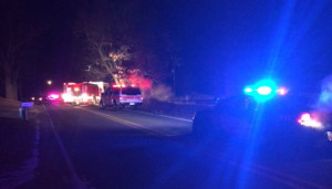 Three young men were injured in an accident in Cannon Township last week. Photo from WOOD TV8.